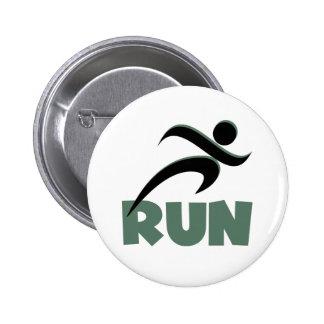 RUN Green Pinback Buttons