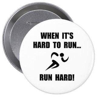 Run Hard 10 Cm Round Badge