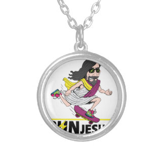 Run Jesus Round Pendant Necklace