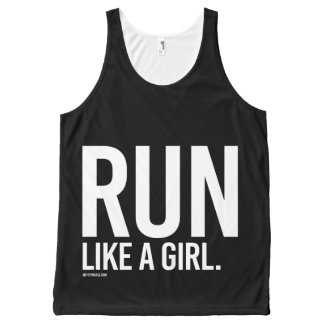 Run like a girl -   Girl Fitness -.png All-Over Print Singlet