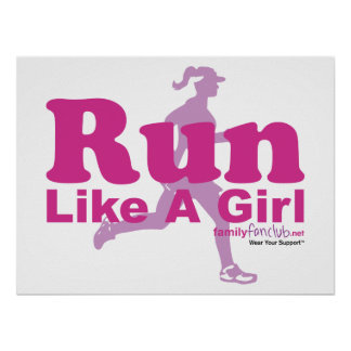 Run Like A Girl Poster
