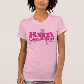 Run Like A Girl Tee Shirts
