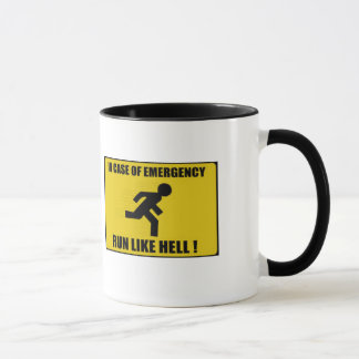 Run like hell! mug