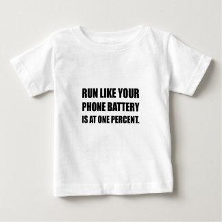 Run Like Phone Battery One Percent Baby T-Shirt