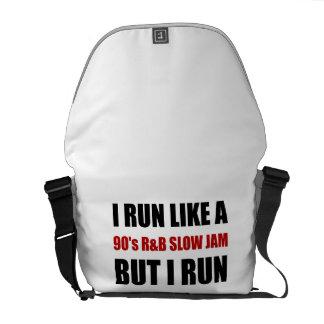 Run Like Slow Jam Funny Messenger Bag
