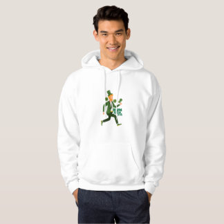 Run Now Shamrock Later St Patricks Day Funny Hoodie