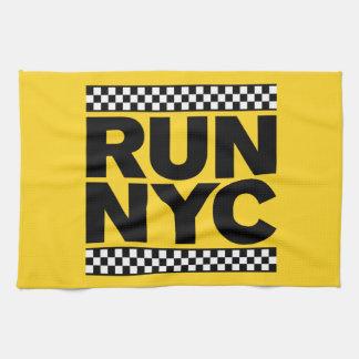RUN NYC TAXI TEA TOWEL