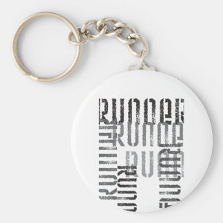 Run Off Basic Round Button Key Ring