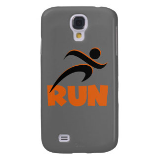 RUN Orange Samsung Galaxy S4 Cover