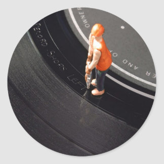 Run Out Groove Sticker