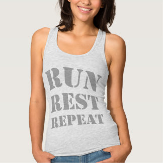 Run Rest Repeat Slim Fit Racerback Tank Top