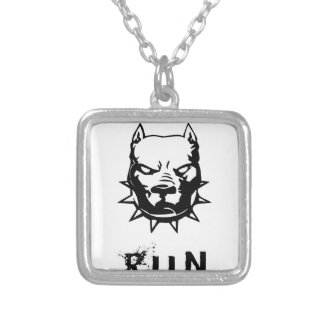 RUN SILVER PLATED NECKLACE