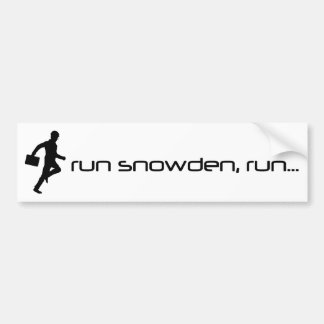 Run Snowden, Run Bumper Sticker