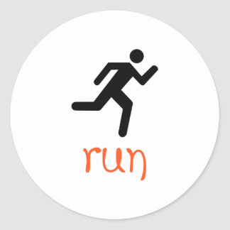 Run Round Stickers