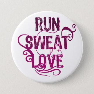 Run Sweat Love 7.5 Cm Round Badge