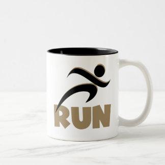RUN Tan Mugs
