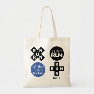 run + tote bag