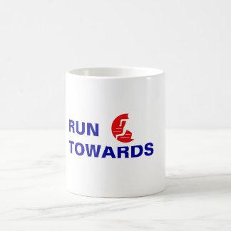 Run Towards Not From logo Mug