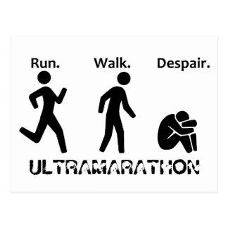 Run Walk Despair Postcard