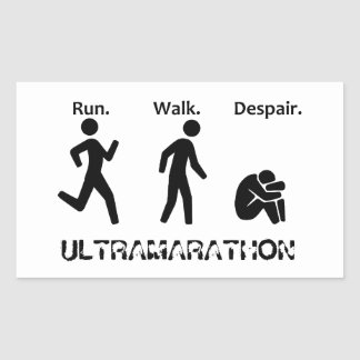Run Walk Despair Rectangular Sticker