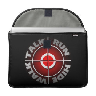 Run walk talk hide. sleeve for MacBook pro