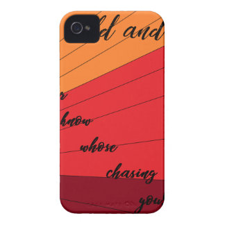 run wild and free you never know whose chasing you iPhone 4 Case-Mate case