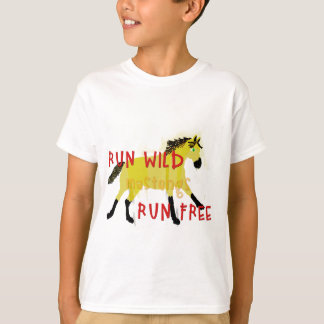 RUN WILD MUSTANGS- Whimsical Horse Collection T-Shirt