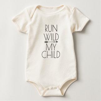 Run Wild My Child Baby Bodysuit