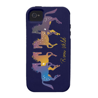 Run Wild Ponies iPhone Case-Mate Case iPhone 4/4S Cover