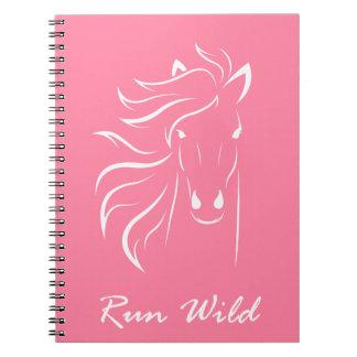 """""""Run Wild"""" Spiral Bound Notebook"""