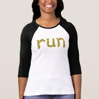 Run (yellow flowers) T-Shirt
