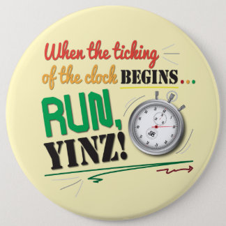 Run, Yinz! Marathon Pin Design
