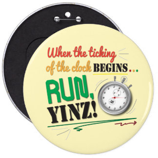 Run, Yinz! Marathon Pin Design