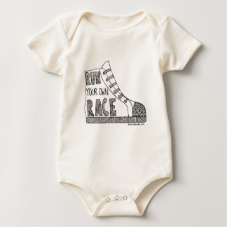 Run your own race Organic Baby Bodysuit