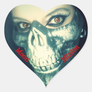 Runae Moon heart sticker