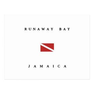 Runaway Bay Jamaica Scuba Dive Flag Postcard