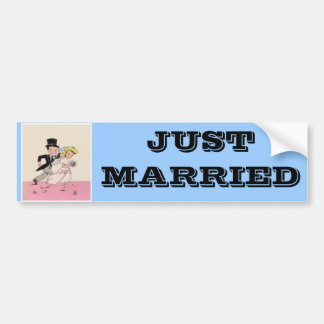 Runaway Bride Groom Bumper Sticker