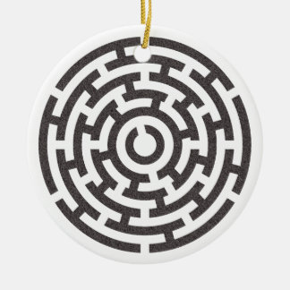 rundes Labyrinth round maze Round Ceramic Decoration