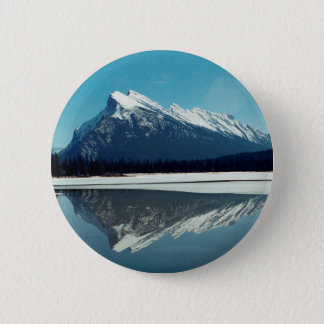 Rundle Mountain, Banff 6 Cm Round Badge