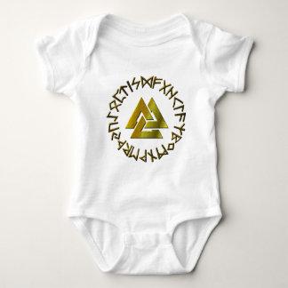 Rune Circle with Volknot Baby Bodysuit