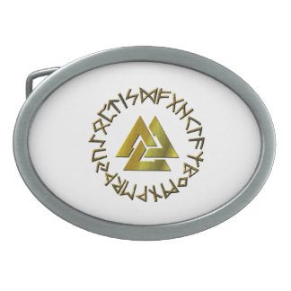 Rune Circle with Volknot Belt Buckles