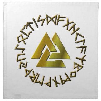 Rune Circle with Volknot Napkin