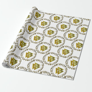 Rune Circle with Volknot Wrapping Paper