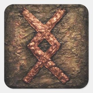 Rune Inguz Square Sticker