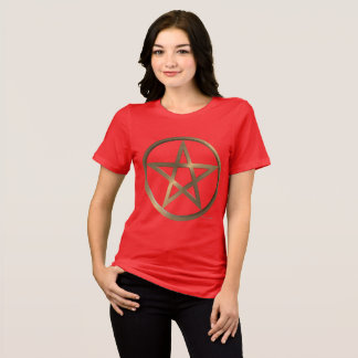 Rune Pentacle Ladies Relaxed Fit T-Shirt