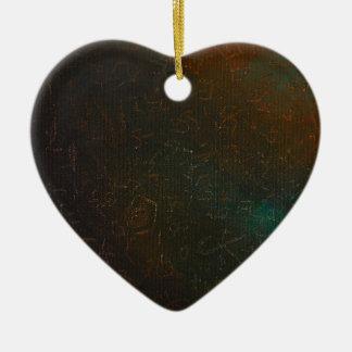 Runes Ceramic Heart Decoration