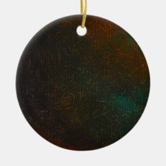 Runes Round Ceramic Decoration