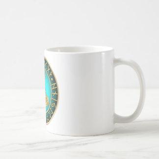 Runes - Thors Hammer - Teal Coffee Mug