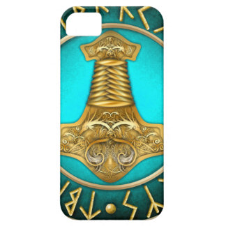 Runes - Thors Hammer - Teal iPhone 5 Cover