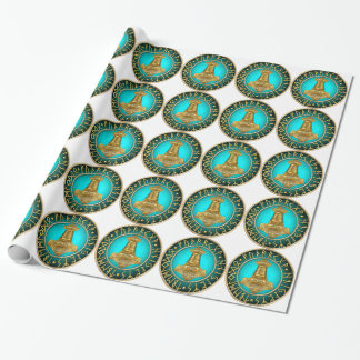 Runes - Thors Hammer - Teal Wrapping Paper